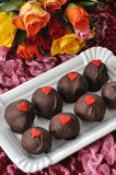 Red Velvet Cake Pops. For Valentines Day Stock Images