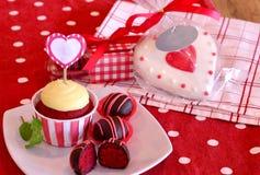Red Velvet Cake Pops Stock Photo