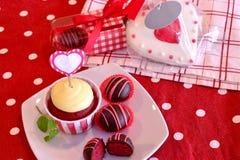 Red Velvet Cake Pops Royalty Free Stock Photos