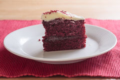 Red velvet cake slice Stock Photo