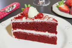 Red velvet cake. Valentine's day Red velvet cake Stock Photography