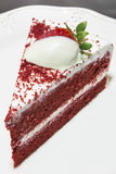 Red velvet cake. Valentine's day Red velvet cake Stock Image