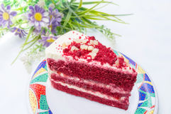 Red velvet cake. On white background Royalty Free Stock Image