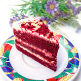 Red velvet cake. On white background Royalty Free Stock Photos