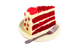 Red velvet cake. On white background Stock Images