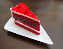 Red velvet cake Royalty Free Stock Image