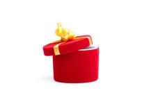 Red velvet case Royalty Free Stock Image