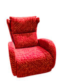 Red velvet chair Stock Photo