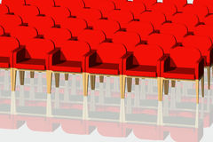 Red velvet chairs Royalty Free Stock Photo