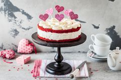 Red Velvet Cheesecake Royalty Free Stock Image