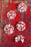 Red velvet crinkle cookies Stock Photo