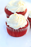 Red Velvet Cupcake. With buttercream icing. Shallow DOF Royalty Free Stock Photos