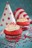 Red velvet cupcake Stock Image