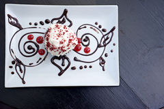 Red velvet cupcake decorate Royalty Free Stock Image