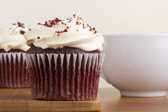 Red Velvet Cupcake Stock Photo