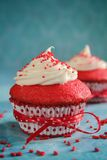 Red velvet cupcake Royalty Free Stock Photography