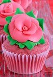 Red velvet cupcakes Stock Photos