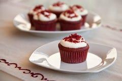 Red velvet cupcakes. Delicious homemade red velvet cupcakes Stock Photo