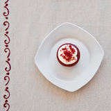 Red velvet cupcakes. Delicious homemade red velvet cupcakes Royalty Free Stock Images