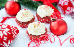 Red velvet cupcakes Stock Photography