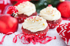 Red velvet cupcakes Royalty Free Stock Photos
