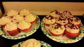 Red Velvet Cupcakes Stock Photo