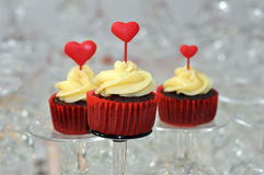 Red Velvet Cupcakes Royalty Free Stock Photo