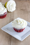 Red Velvet Cupcakes. With a white cream cheese icing Royalty Free Stock Photos