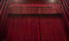 A red velvet curtain Royalty Free Stock Photos