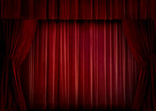 Red velvet curtain Royalty Free Stock Photos