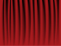 Red velvet curtain Royalty Free Stock Image