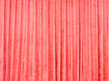 Red velvet curtain Stock Image