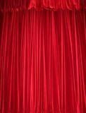 Red velvet curtain Stock Photos