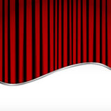 Red velvet curtain. Background with red velvet curtain Stock Photography