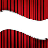 Red velvet curtain. Background with red velvet curtain Royalty Free Stock Photo