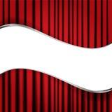 Red velvet curtain Royalty Free Stock Photo