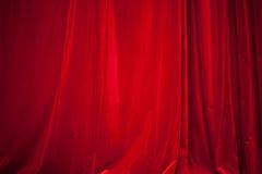 Red velvet curtain. Draped red velvet curtain background stock image