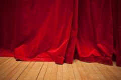 Red velvet curtain Stock Photo