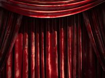 Red velvet curtain stage Royalty Free Stock Photos