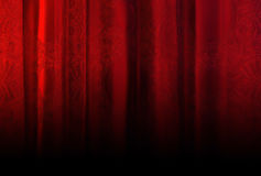 Red velvet curtain with texture Royalty Free Stock Photography