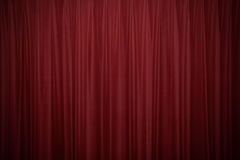 Red velvet curtains 2 Royalty Free Stock Photography