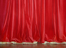 Red Velvet Curtains Stock Photography