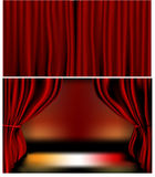 Red Velvet Curtains Royalty Free Stock Photography