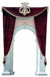 Red Velvet Curtains and Arch cutout Stock Image
