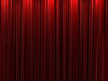 Red velvet curtains background Stock Photography
