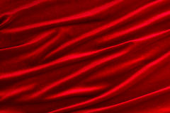 Red velvet fabric Royalty Free Stock Images