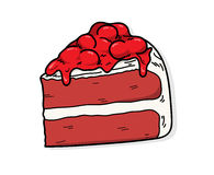 Red Velvet. A hand drawn vector illustration of a red velvet cake Royalty Free Stock Photography