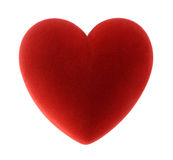 Red velvet heart Royalty Free Stock Photos