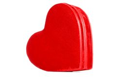 Red velvet heart box Royalty Free Stock Image