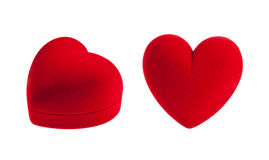 Red velvet heart box Royalty Free Stock Photography